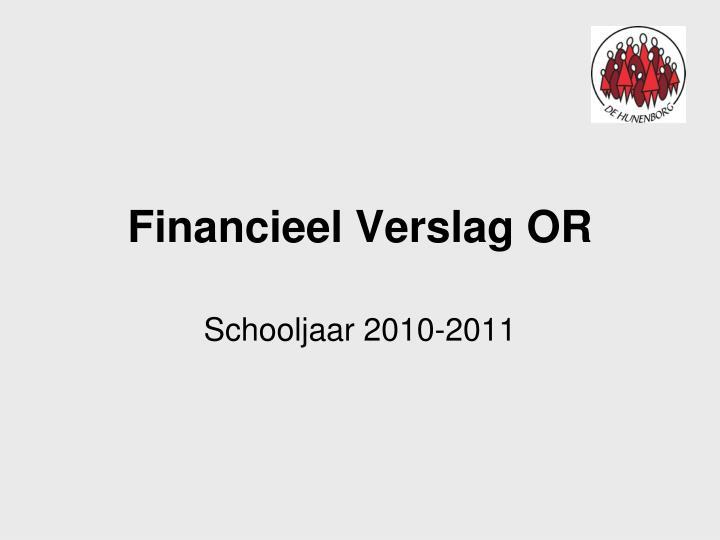 Financieel Verslag OR