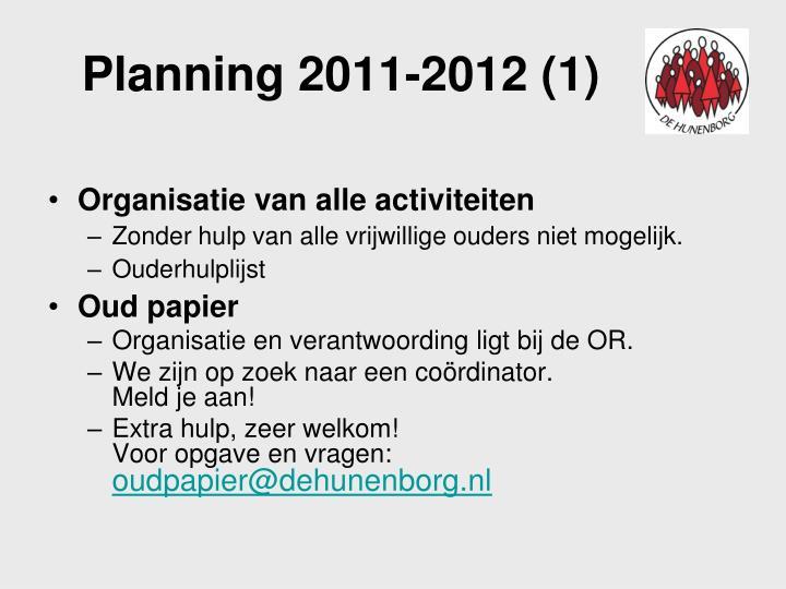 Planning 2011-2012 (1)