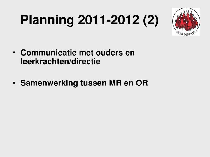 Planning 2011-2012 (2)