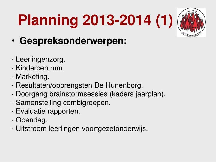 Planning 2013-2014 (1)