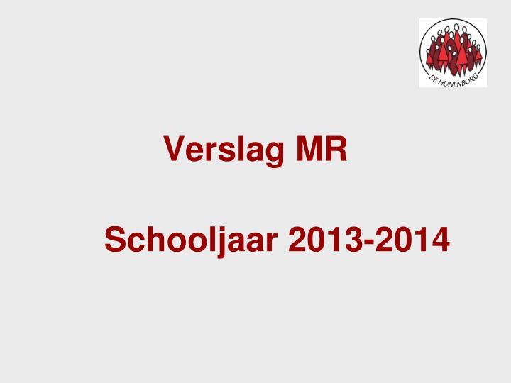 Verslag MR