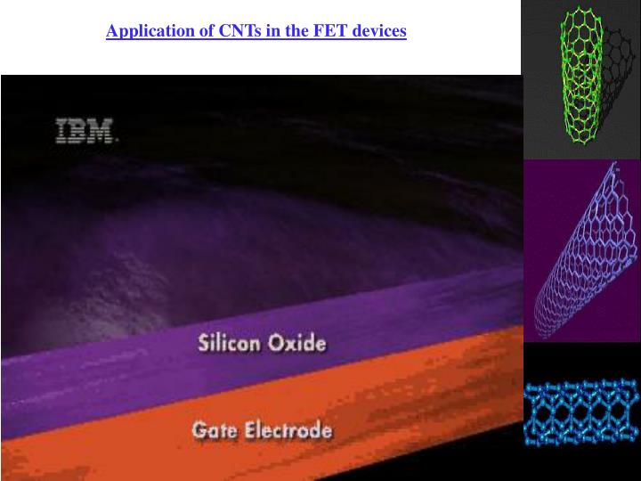 Application of CNTs in the FET devices