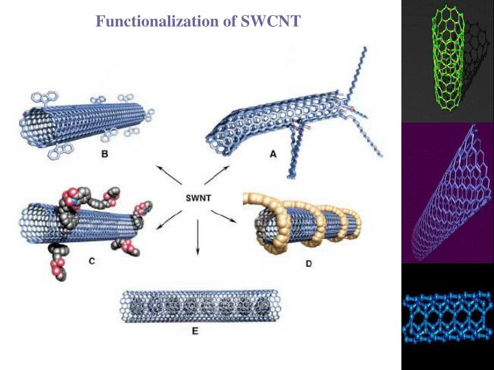 Functionalization of SWCNT