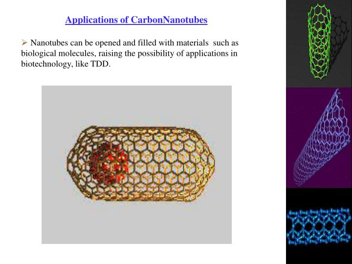 Applications of CarbonNanotubes