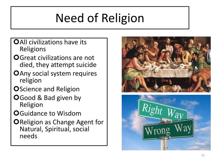 Need of Religion