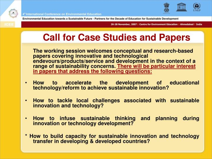 Call for Case Studies and Papers