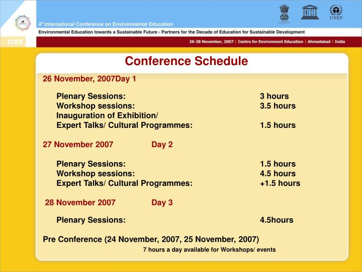 Conference Schedule