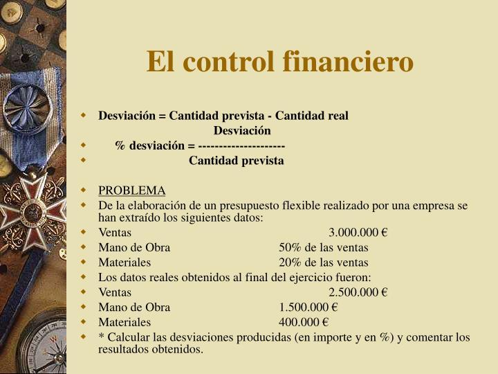 El control financiero