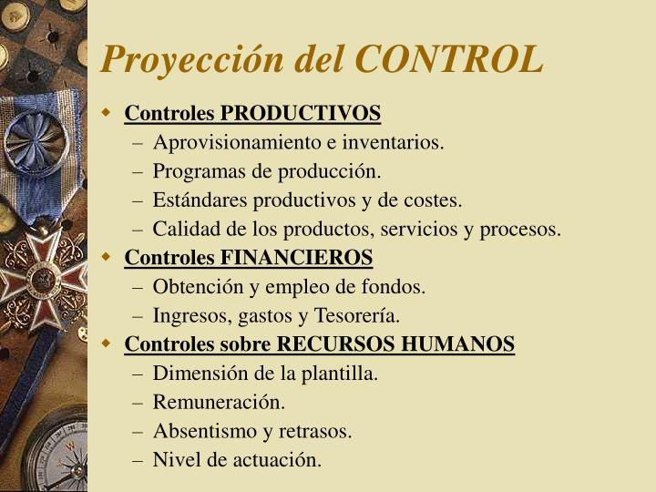 Proyección del CONTROL