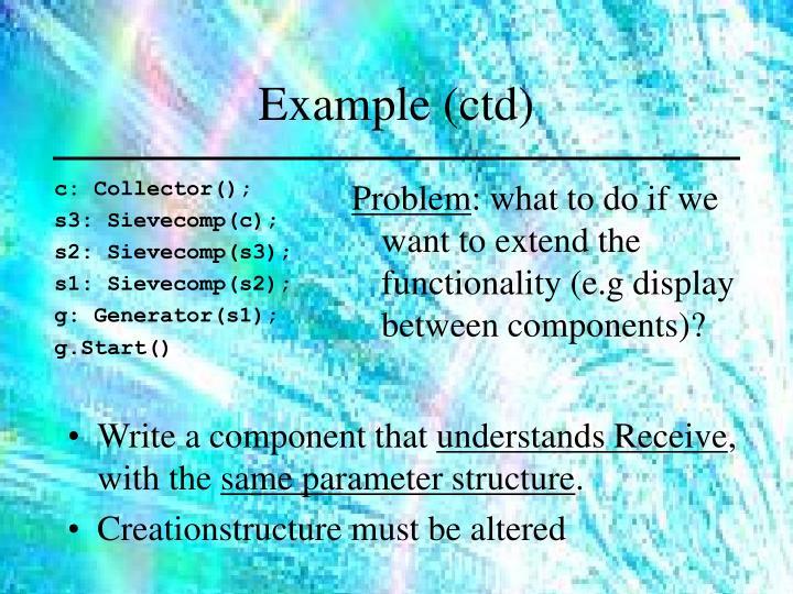 Example (ctd)