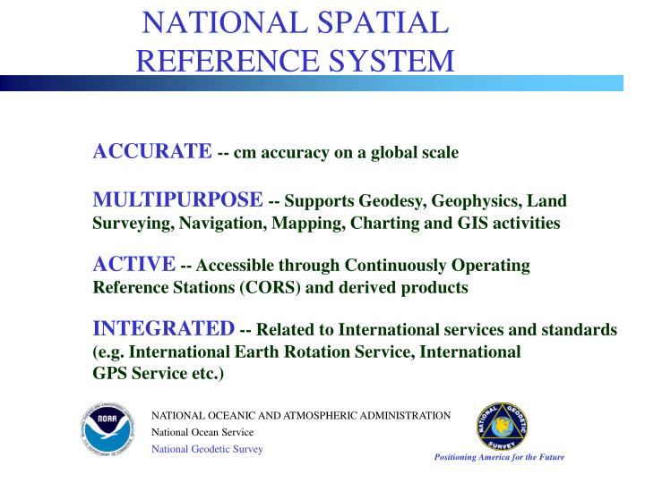 National spatial reference system1