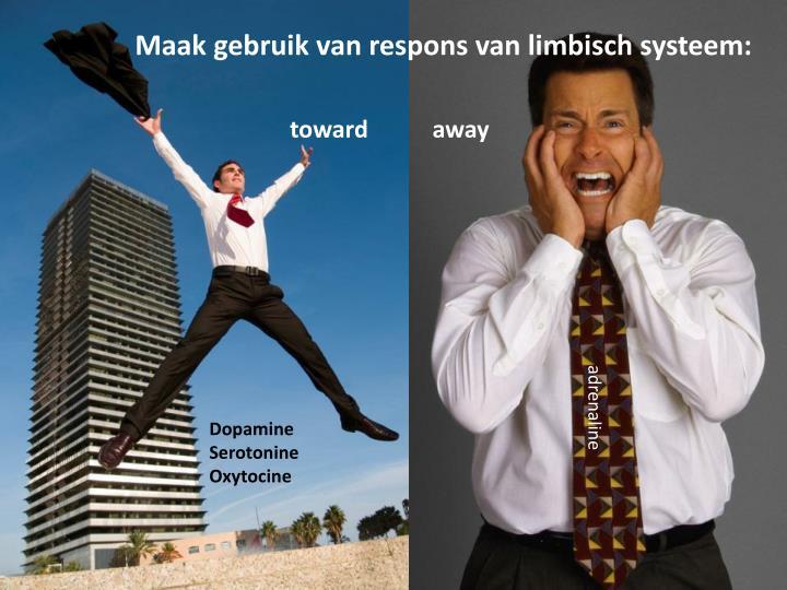 Maak gebruik van respons van limbisch systeem: