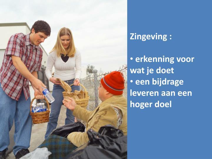 Zingeving :