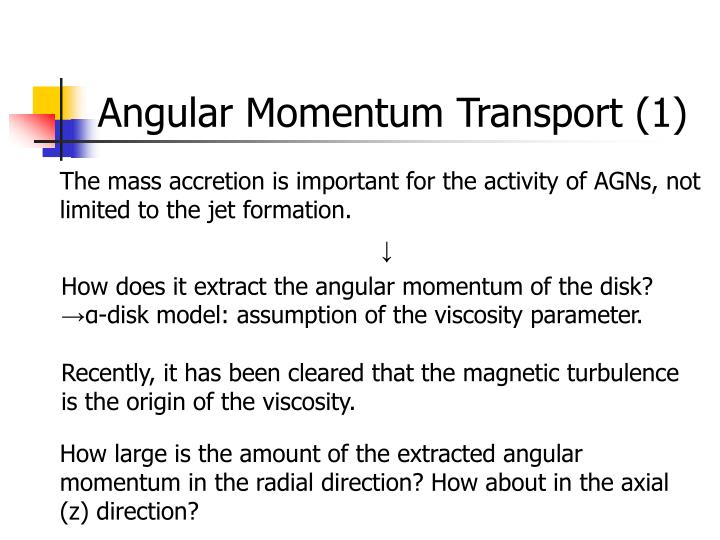 Angular Momentum Transport (1)