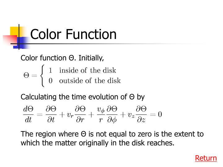 Color Function