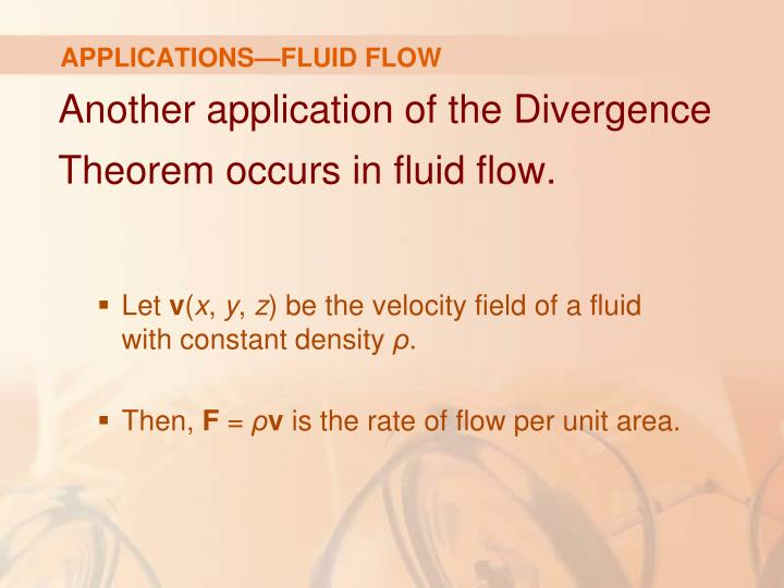 APPLICATIONS—FLUID FLOW
