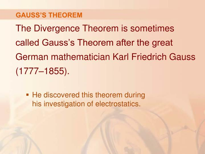 GAUSS'S THEOREM