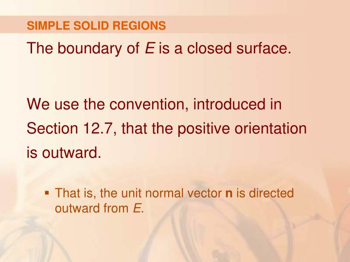 SIMPLE SOLID REGIONS
