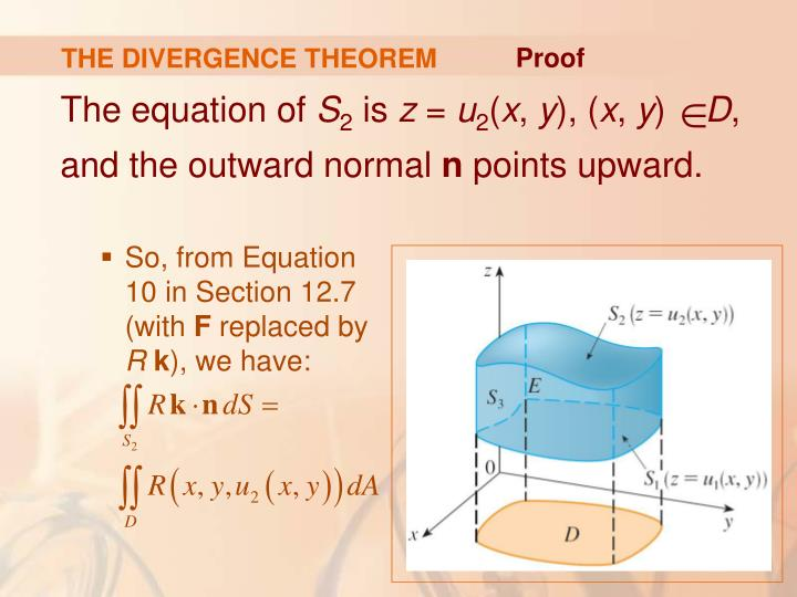 THE DIVERGENCE THEOREM
