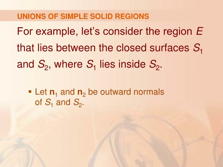 UNIONS OF SIMPLE SOLID REGIONS