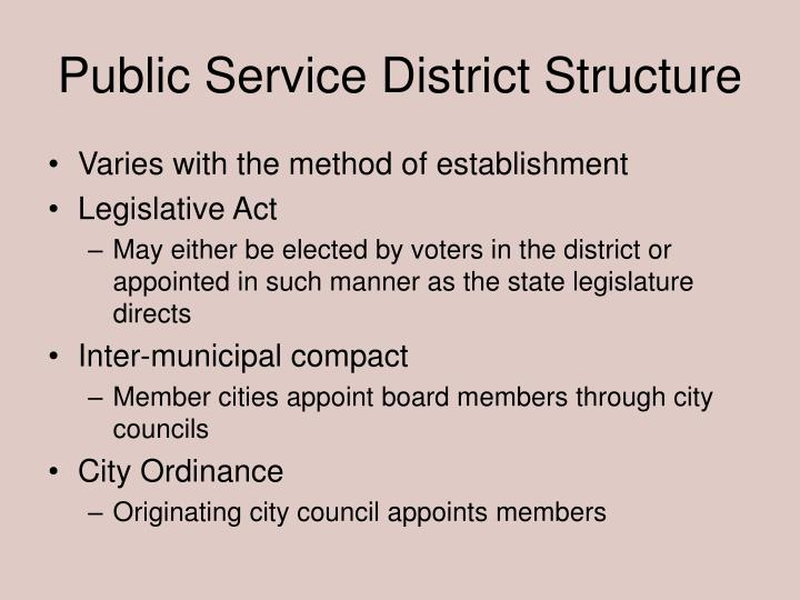 Public Service District Structure