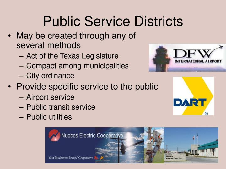 Public Service Districts