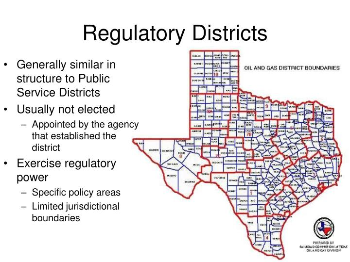 Regulatory Districts
