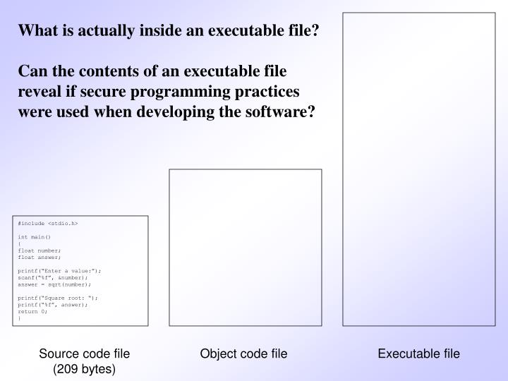 What is actually inside an executable file?