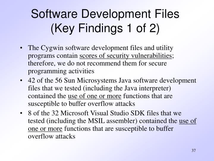 Software Development Files