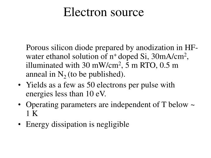 Electron source