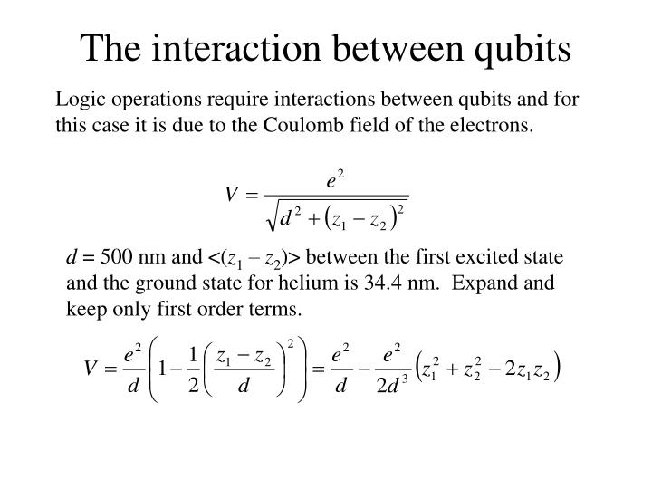 The interaction between qubits