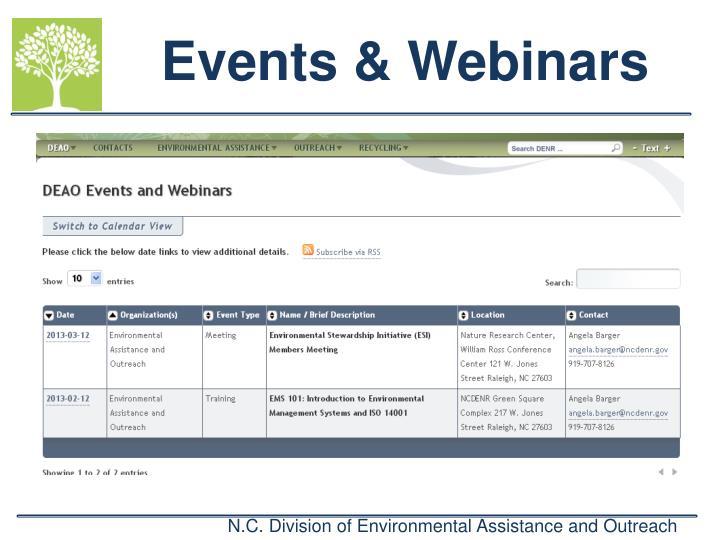 Events & Webinars