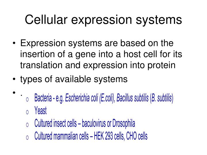 Cellular expression systems