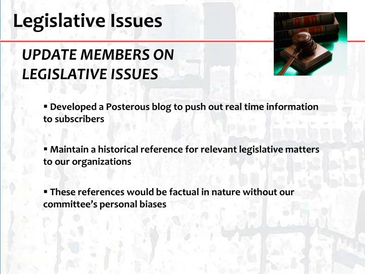 Legislative Issues