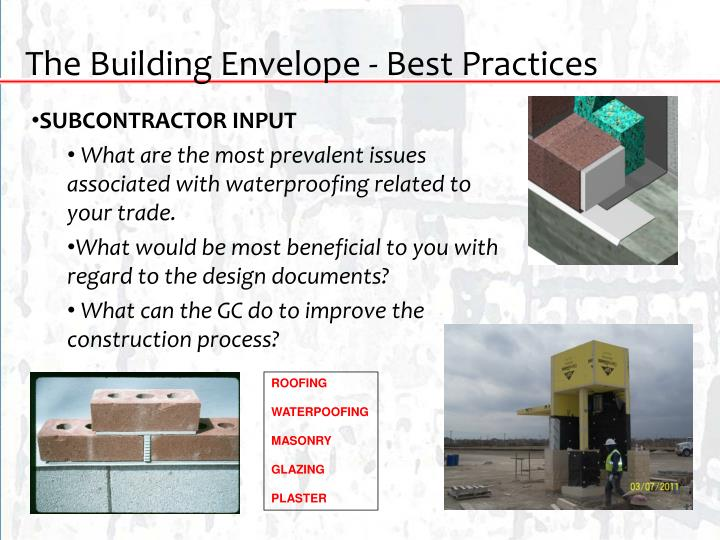The Building Envelope - Best Practices