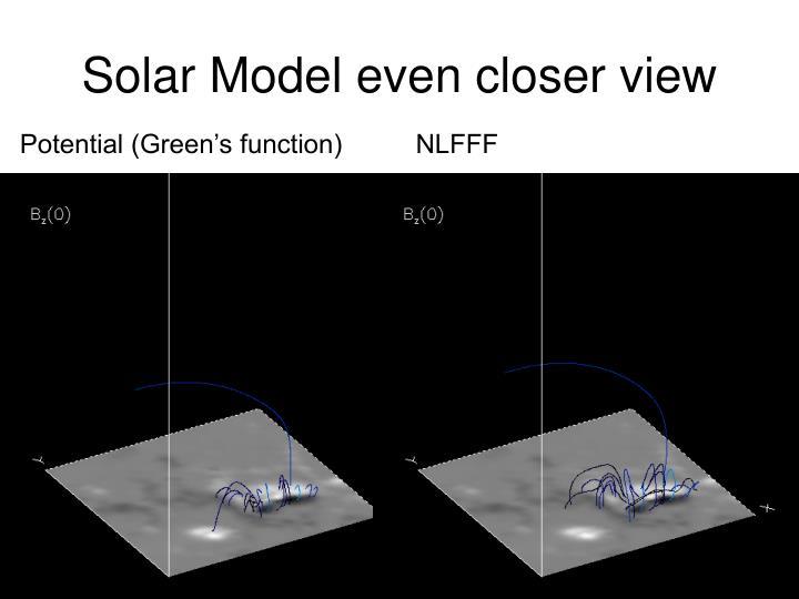 Solar Model even closer view