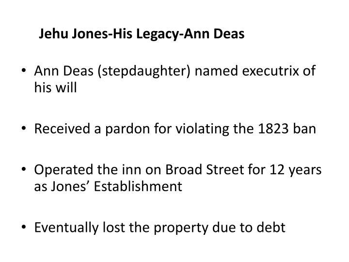 Jehu Jones-His Legacy-Ann Deas