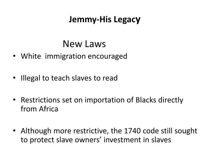 Jemmy-His Legac