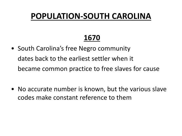 POPULATION-SOUTH CAROLINA