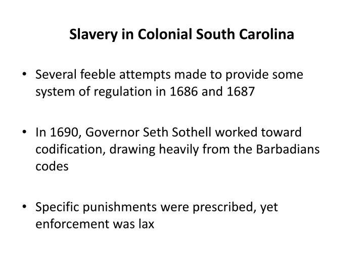 Slavery in Colonial South Carolina