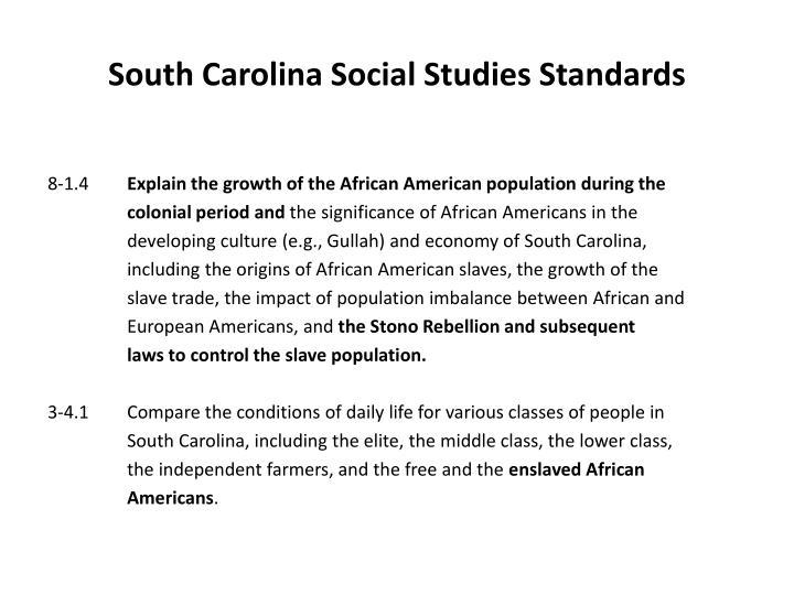 South Carolina Social Studies Standards