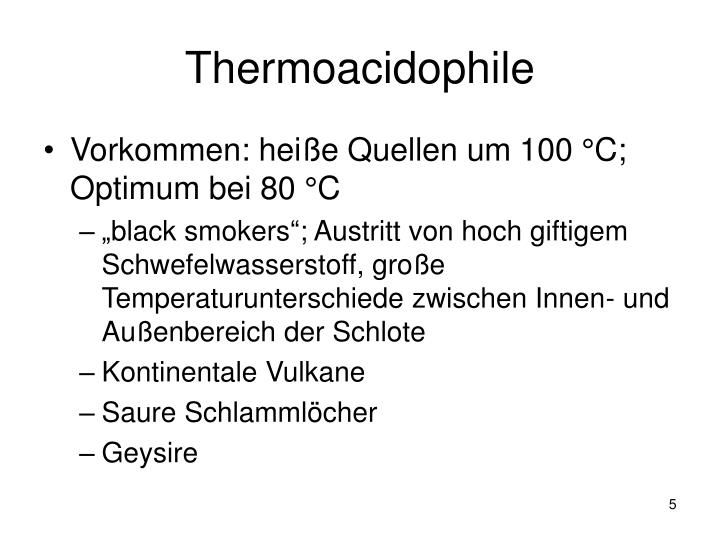 Thermoacidophile