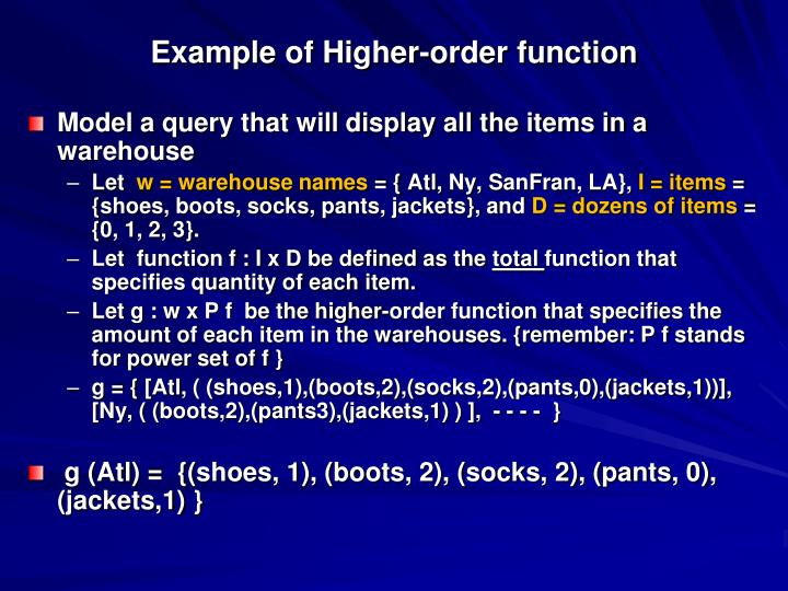 Example of Higher-order function