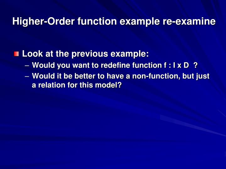 Higher-Order function example re-examine