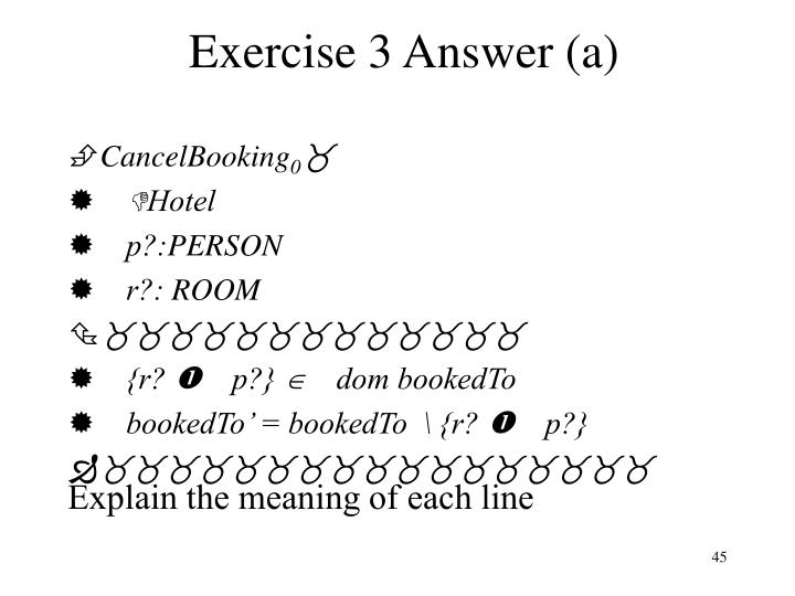 Exercise 3 Answer (a)