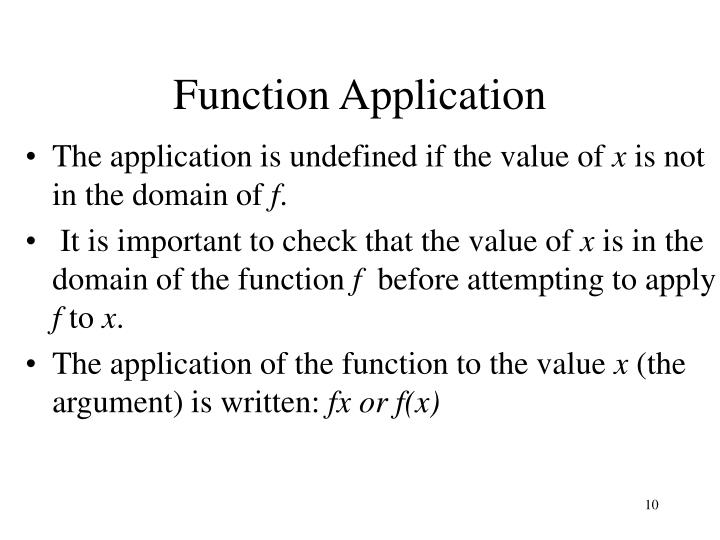 Function Application