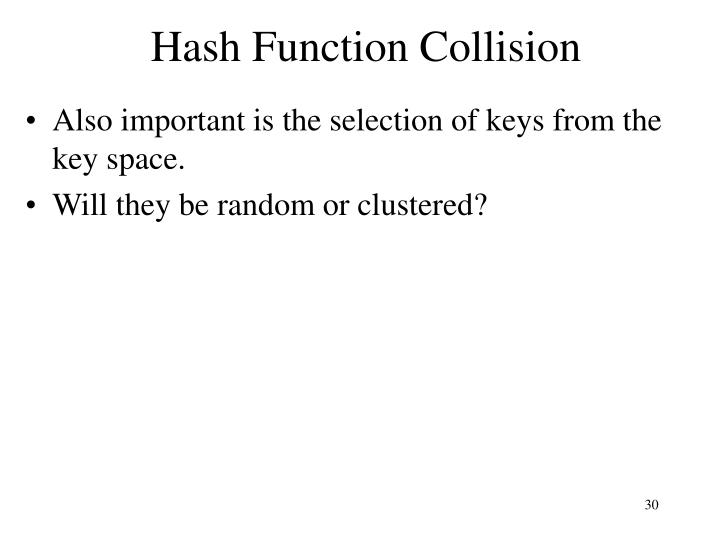 Hash Function Collision