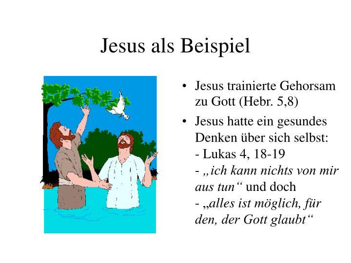 Jesus als Beispiel