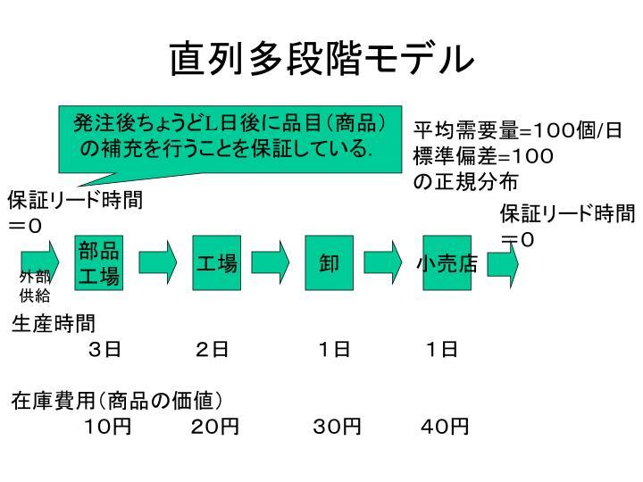 直列多段階モデル