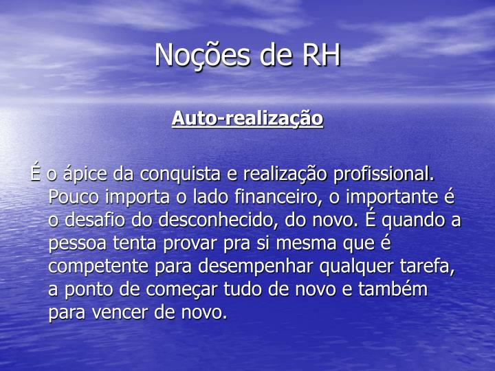 Noções de RH